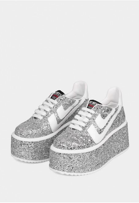 Cubik hight glitter plata