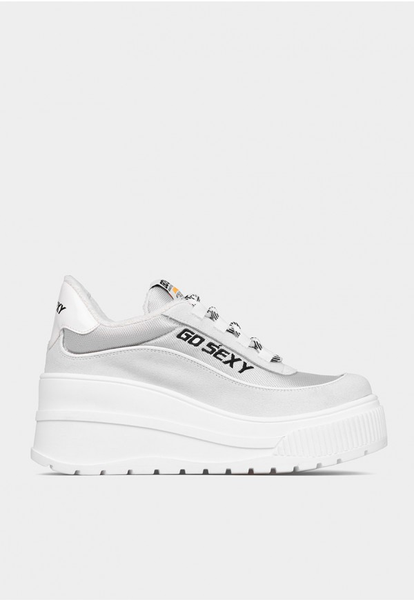 Go Sexy Space ice white suede