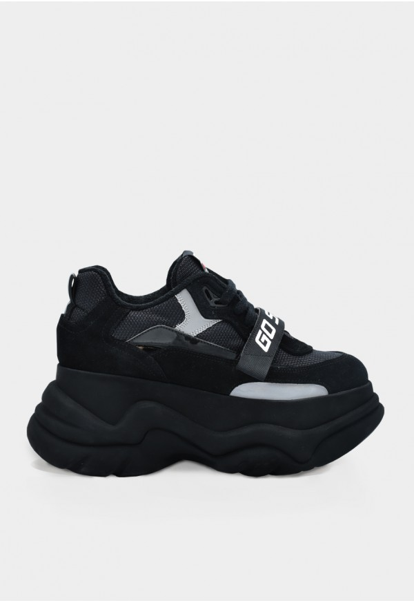 Go Sexy X-Plorer black suede with reflective details