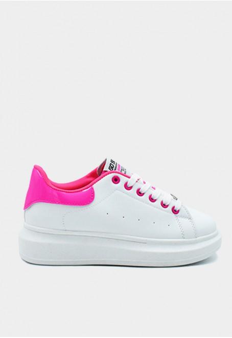Dinamita vegan blanco adornos rosa fluor