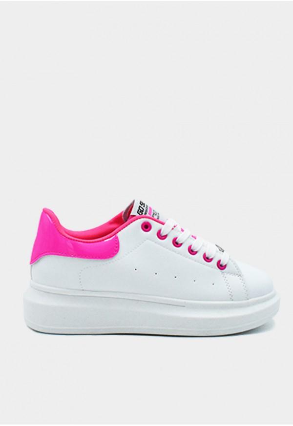 Go Sexy Dinamita vegan blanco adornos rosa fluor