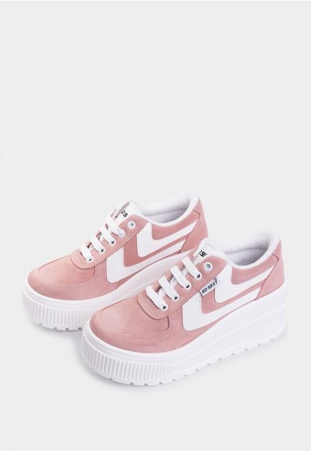 Surwave serraje rosa tiras blancas