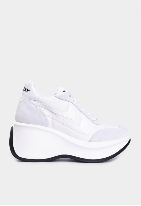 Iconic serraje nylon blanco