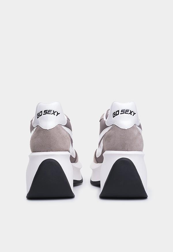 Go Sexy Iconic taupe suede-nylon