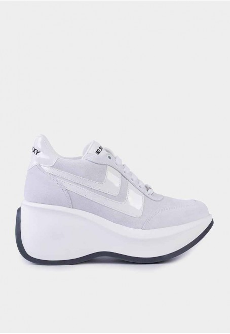 Iconic ice white suede