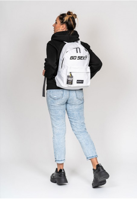 White Backpack Go Sexy